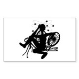 Cyclist Crash Rectangle Decal