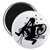 "Cyclist Crash 2.25"" Magnet (10 pack)"