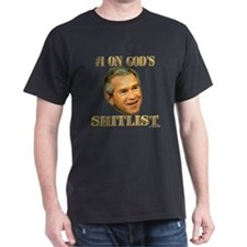 #1 on God's Shitlist Black T-Shirt