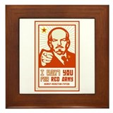 Soviet Red Army I Want You Framed Tile