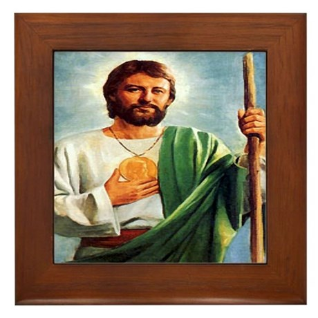 St. Jude Framed Tile