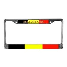 Belgium Flag Blank License Plate Frame