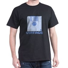 Vintage Floppy Black T-Shirt