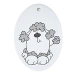 Poodle Pup Oval Ornament