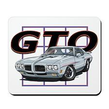 Silver Pontiac GTO Mousepad