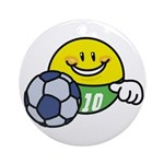 Smile Face Soccer Ornament (Round)
