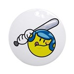 Smile Face Baseball Ornament (Round)