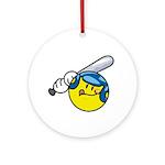 Smile Face Baseball Ornament (Round)