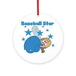 Baseball Star Ornament (Round)