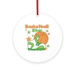 Basketball Star Ornament (Round)