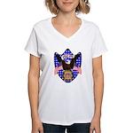 Independence Day Eagle Women's V-Neck T-Shirt