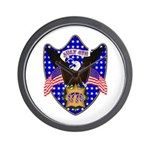 Independence Day Eagle Wall Clock