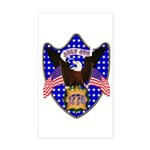 Independence Day Eagle Rectangle Sticker