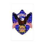 Independence Day Eagle Rectangle Sticker 50 pk)