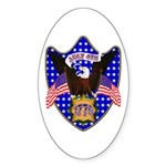 Independence Day Eagle Oval Sticker (10 pk)