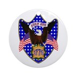 Independence Day Eagle Ornament (Round)