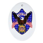 Independence Day Eagle Oval Ornament