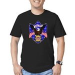 Independence Day Eagle Men's Fitted T-Shirt (dark)