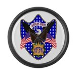 Independence Day Eagle Large Wall Clock