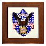 Independence Day Eagle Framed Tile