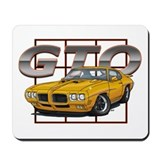 Orbit Orange Pontiac GTO Mousepad