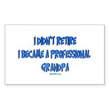 Professional Grandpa Rectangle Decal