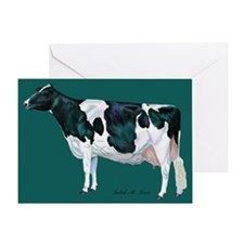 Holstein Cow Greeting Card