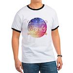 Pink White & Blue Ribbon Organic Toddler T-Shirt (