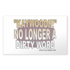 Kaywoodie - No longer a dirty Rectangle Decal