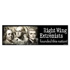 RWExtremists founded nation Bumper Bumper Sticker
