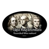 RWExtremists founded nation Oval Decal