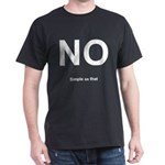 NO! Simple as that. Dark T-Shirt