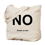 NO! Simple as that. Tote Bag