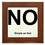 NO! Simple as that. Framed Tile