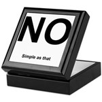 NO! Simple as that. Keepsake Box