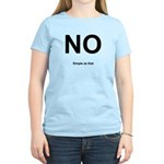 NO! Simple as that. Women's Light T-Shirt