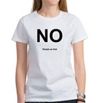 NO! Simple as that. Women's T-Shirt