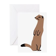 Ermine - Weasel Greeting Card