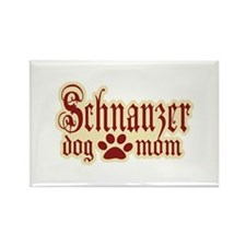 Schnauzer Mom Rectangle Magnet (10 pack)