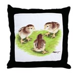 Silver Grey Dorking Chicks Throw Pillow