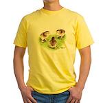 Silver Grey Dorking Chicks Yellow T-Shirt