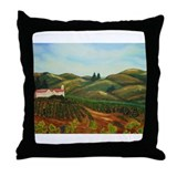Napa Vineyards Throw Pillow