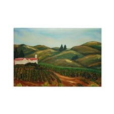Napa Vineyards Rectangle Magnet
