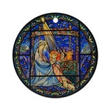 Nativity window Ornament (Round)
