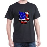 Black Patriotic Pit Bull T-Shirt