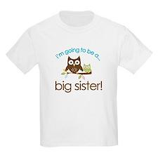 i'm going to be a big sister owl shirt T-Shirt