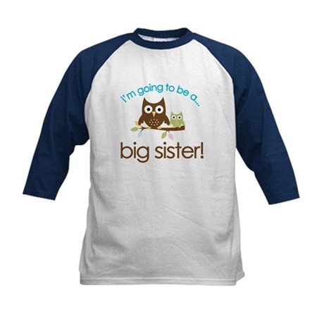 i'm going to be a big sister owl shirt Kids Baseba