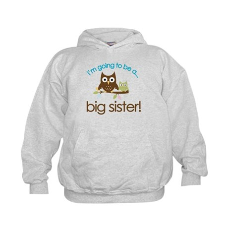 i'm going to be a big sister owl shirt Kids Hoodie
