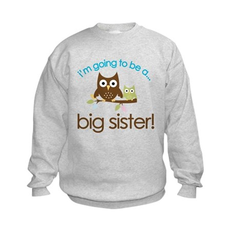i'm going to be a big sister owl shirt Kids Sweats