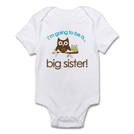 i'm going to be a big sister owl shirt Infant Body